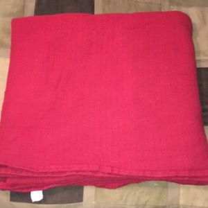Ralph Lauren Queen Size 90 x 90 Red Blanket Unused